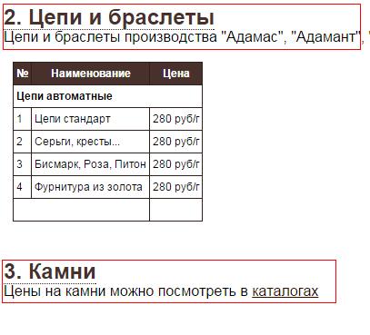 Компоновка текстов страницы