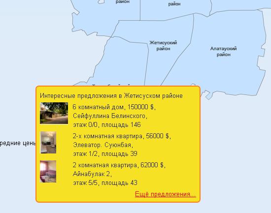 Юзабилити карты объектов недвижимости