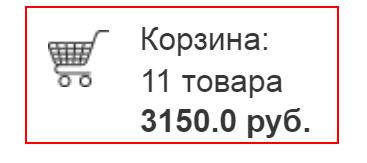 Юзабилити мини-корзины сайта