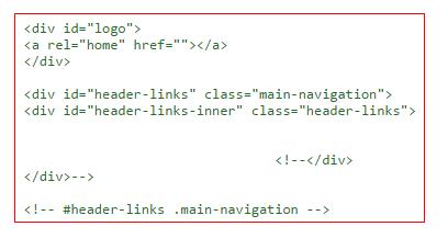 Неиспользуемый HTML код в комментариях